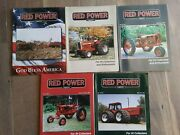 Lot Of 5 Red Power Magazine For Ih Collector's And Enthusiasts 2001 Farm Tractor