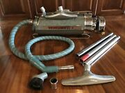 Vintage Electrolux Canister Vacuum Cleaner 30 Sled Atomic Canister 1950s Gray