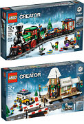 Lego 2 Sets - Winter Holiday Train And Village Train Station 10254, 10259 Sealed