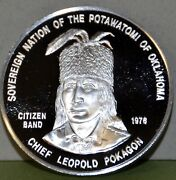 Sovereign Nation Of The Potawatomi, .999 Silver Medal And Book