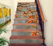 3d Persimmon Tree Na266 Stair Risers Decoration Photo Mural Decal Wallpaper Fay