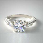 950 Platinum Real Diamond Engagement Ring For Womenand039s Round 0.70 Ct Size 5 6 7 8