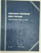 Complete Franklin Half Dollar Collection 1948-1963 Circulated In Whitman Folder