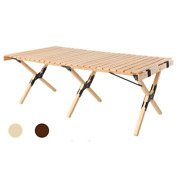 Folding Table Wood Outdoor Camping Picnic Table Home Furniture Garden Bbq Mesa