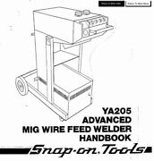 Century Mig Welder Parts And Owners Manual 117-012 Ya-205