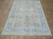 7and03911 X 10and0391 Hand Knotted Beige Turkish Oushak Oriental Rug G10967