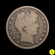 1900 Barber Half Dollar Vg Condition Partial Liberty Early Us Silver 73