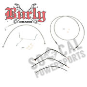Burly B30-1117 Braided Stainless Steel Cable/line Kits 13 Ape Hangers