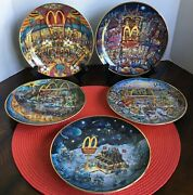 5 Mcdonald's 8 Collectible Plates By Bill Bell From The Franklin Mint Series