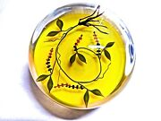 Rare And Mint Early Paul Stankard Ltd..ed. Paperweight Of Berries, Leaves And Roots