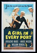 A Girl In Every Port ✯ Movie Poster Groucho Marx Brothers Cigar Navy Nurse 1952