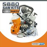 Farmertec Complete Repair Kit Compatible With Stihl Ms880 088 Fuel Tank Housing