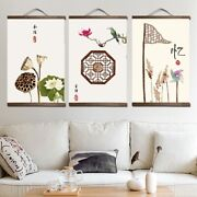 Lucky Charms Chinese Painting Wall Art Style Canvas Solid Wood Scroll Posters