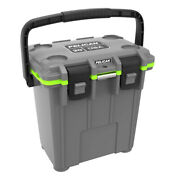 Pelican 20qt Elite Cooler Extreme Ice Retention Dark Gray With Green Accents