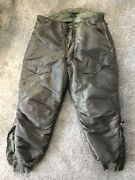 Vintage Us Air Force Type F-1 Heavy Aircrew Trousers Size 42 Pants No Suspenders