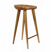 New Carved Wood Barstool -30 Contemporary Bar/counter Tractor Stool-set Of 2 W