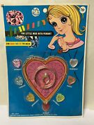 Noc Little Miss Jewelry Toy Set Vintage Rare Dime Store Hong Kong New On Card A+