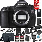 Canon Eos 5ds R Digital Slr Camera Body Only- Bundle +2x 64gb Memory Cards + S