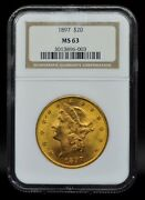 1897 Ngc Ms63 20 Gold Liberty Double Eagle [051dud]