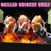 Grilling Chicken Stand Beer American Motorcycle Bbq Stainless Steel Rack Tools