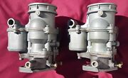 Holley 94 Carburetors Matched Pair Of Model 2100and039s - Vintage Made In Usa