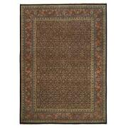 8and0398x12and0391 Handknotted Herati 250 Kpsi New Zealand Wool Black Rug G62986