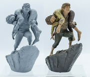 Sideshow Lord Of The Rings Mount Doom Frodo And Sam Diorama And Sculpt Rare Set Of 2
