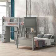 Twin Over Twin Bed With Drawers And Shelves White For Kids And Adults Storage