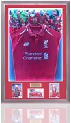 Liverpool Led Champions League Winners 2018-19 Home Shirt Hand Signed By 14 Coa