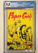 Paper Girls 1 Cgc 9.8 White Pages 1st Print Image Comics 2015 Brian K. Vaughan