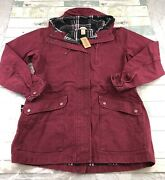 Womenand039s Duluth Trading Womenand039s Can-do Canvas Coat Maroon Red Size Xl