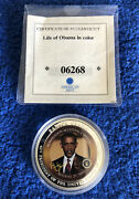 American Mint And039barack Obamaand039s Acceptance Speechand039 Coin Issued 2009 Silver Plated