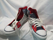 Brand New Tri Colored Navy Blue/red/white Converse High Tops Menand039s Size 9