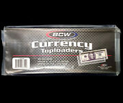 200 Bcw Regular Small Modern Currency Bill Rigid Toploaders Holders New In Stock