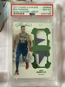 Ben Simmons 2017-18 Flawless Dual Patches Green /5 Rc Logo Patch Psa10 Pop1 Rare