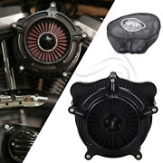 Us Black Air Cleaner Intake Filter +rain Sock For Harley Touring Road Glide Dyna