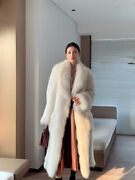 High Street Style Fox Fur Woven Fur Coat Womenand039s Whole Leather Long Coat Winter