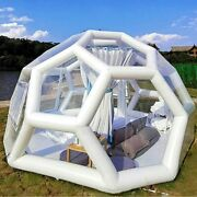 3/4/5m Football Structure Inflatable Bubble Lodge Hotel Tent Luxury Igloo Dome