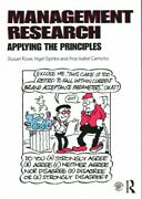 Management Research Applying The Principles, Paperback By Rose, Susan Spin...
