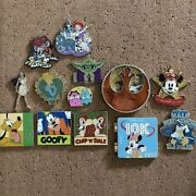 Authentic Disney Trading Pins - Lot Of 13 - Le Lr Oe Vintage Pins