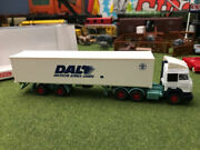 Wiking Tractor Trailer Used In Box Ho Scale Lorry White Tealish Germany Read
