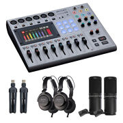 Zoom Podtrak P8 8-channel Podcasting Mixer W/ 2x Zoom Zdm-1 Podcast Mic Pack