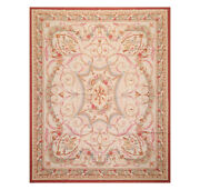 8and039x10and039 Asmara Hand Woven French Aubusson Classic Scroll Flatweave Area Rug Beige