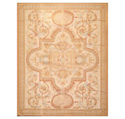 8and039 X 10and039 Asmara Hand Woven Wool French Aubusson Classic Area Rug Beige 8x10