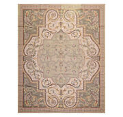 8and039 X 10and039 Asmara Hand Woven Wool French Aubusson Flatweave Area Rug Taupe 8x10