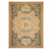 9and039 X 12and039 Asmara Hand Woven Wool French Aubusson Flat Pile Area Rug Tan 9x12