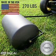 Push Tow Behind Lawn Roller Yard Grass Care Tractor Attachment Poly 270 Lbs Usa