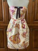New Vintage Emilio Pucci Runway Bustier Dress Silk Size 38 Or 4 Us