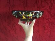Rare Vintage Unique Red Wing Pottery Iron Ware American Indian Pottery Bowl