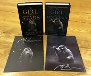 The Girl And The Stars/mountain - Mark Lawrence Signed And No. 81 + A4 Prints